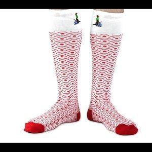 "Soxfords ""Seigaiha"" Over the Calf Socks Size 8-12"